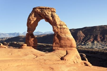 horizontal view of famous Delicate Arch, Utah, USA Stock Photo - 16977890