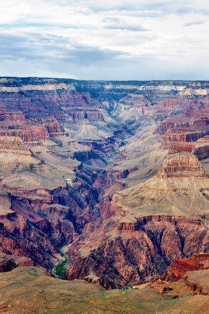 vertical view of famous Grand Canyon, USA photo