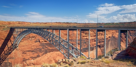 Navajo Bridge over the Colorado River near Page, Arizona USA  photo