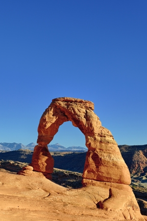 Sunset light on famous Delicate Arch  Stock Photo - 17176997