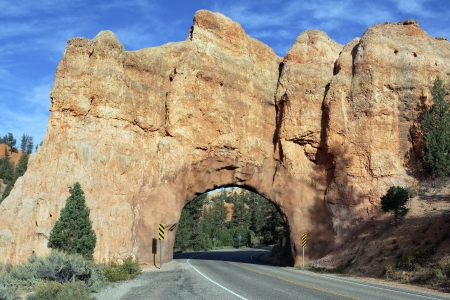 Road to Bryce Canyon National Park through tunnel in the rock, USA Stock Photo - 17215140