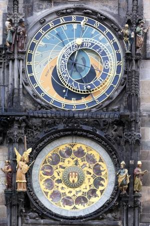 zodiacal: famous zodiacal clock in Prague