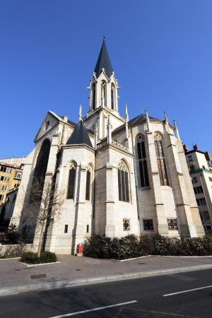 patrimony: Famous Saint-Georges church in Lyon city, France