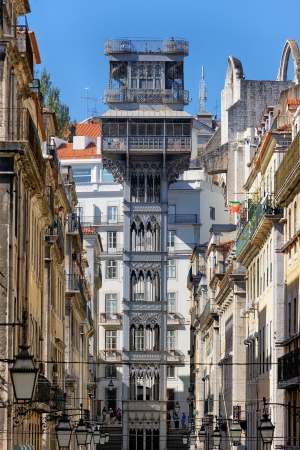 Famous santa justa elevator in Lisbon  Stock Photo - 17298169