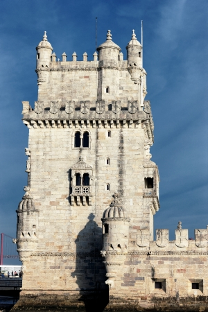 lisbonne: famous Belem Tower in evening. Lisbon, Portugal.  Editorial