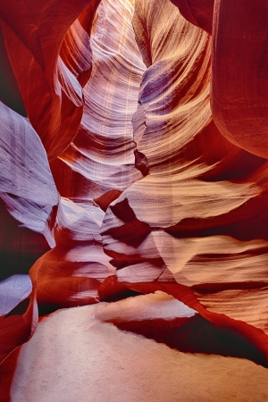 vertical view in the famous Antelope Canyon, Page, Arizona, USA  Stock Photo - 17374739
