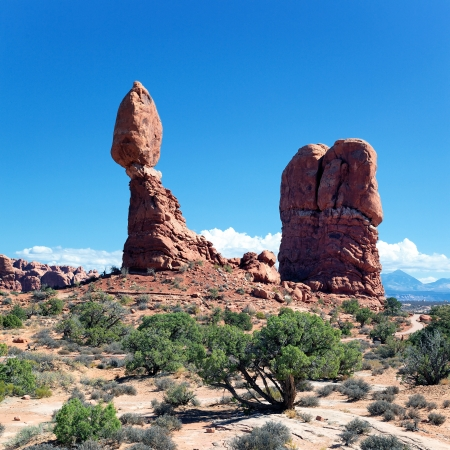 canyonland: famous Red rocks in Arches National park, Utah, USA
