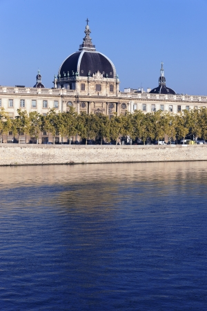 rhone: famous monument reflecting on the Rhone River