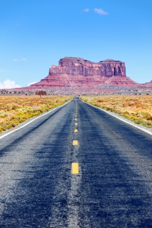 Long Road to Monument Valley, Arizona, USA Stock Photo - 17558987
