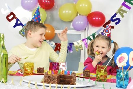 novelties: children at funny birthday party
