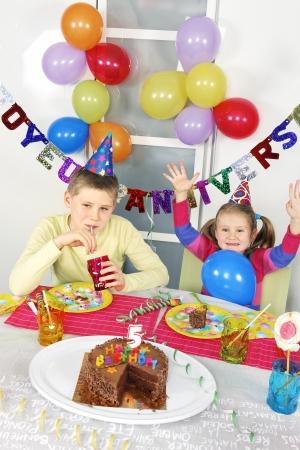 novelties: children at big funny birthday party