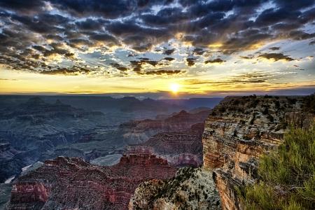 Grand Canyon at sunrise, horizontal view Stock Photo - 17815172