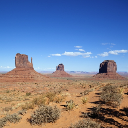 monument valley view: famous view of Monument Valley, USA