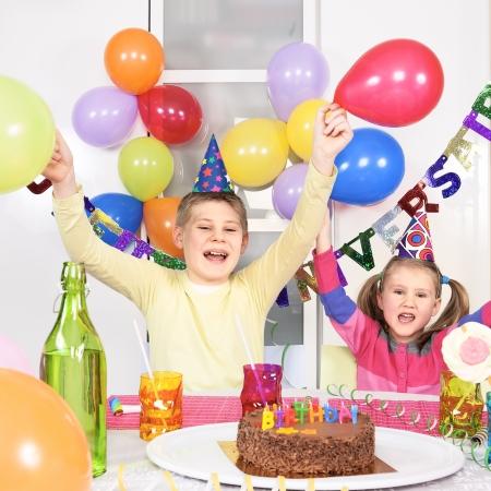 novelties: children at birthday party