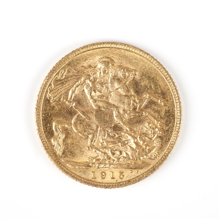 sovereign: famous gold Sovereign Reverse 1915 Stock Photo