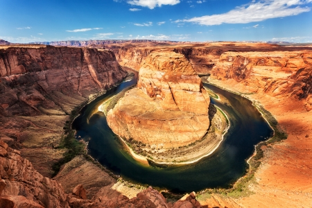 Famous view of Horseshoe Bend at Utah, USA  photo