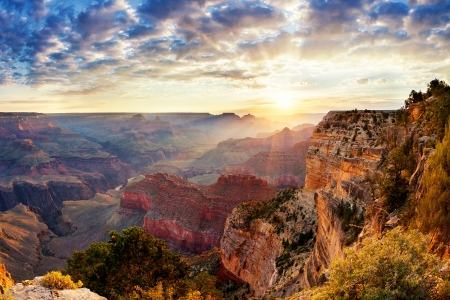Grand Canyon sunrise, horizontal view