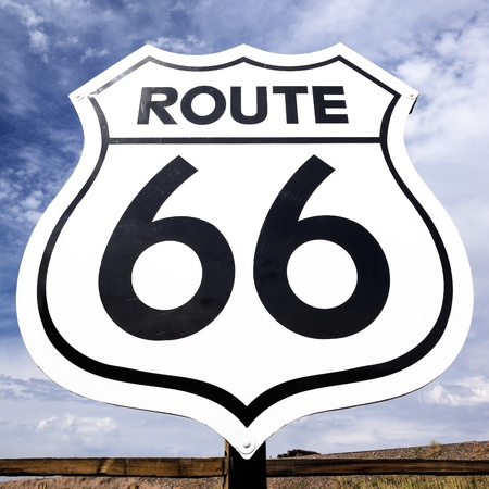 Famous nostalgic route 66 sign photo