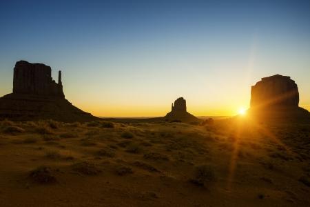 Beautiful sunrise at Monument Valley, USA Stock Photo - 18571212