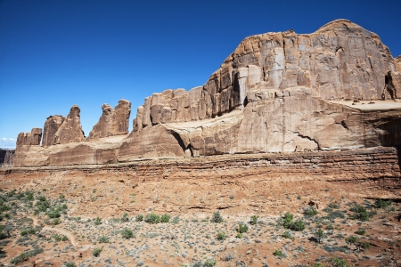 canyonland: red rocks in Arches National park, Utah