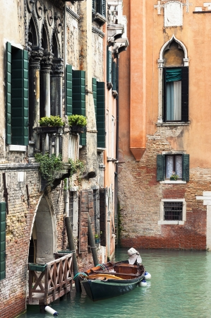 grand canal: Venice canal,Italy