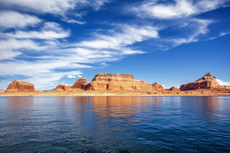 lake powell: view on famous lake Powell, Page, USA