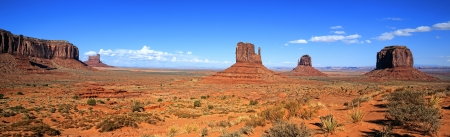 panomaric view of Monument Valley, USA.