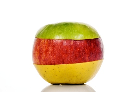 mixed fruits: Mixed fruits, green, yellow and Red Apple