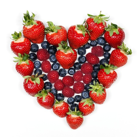 Delicious berries  Strawberries, blueberries and raspberries   photo