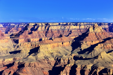 Horizontal view of Grand Canyon, USA photo
