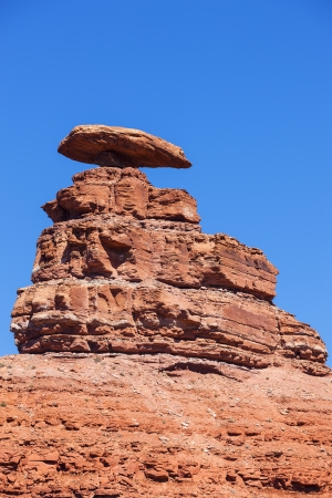 monument valley view: View of the famous Mexican Hat Monument, USA Stock Photo