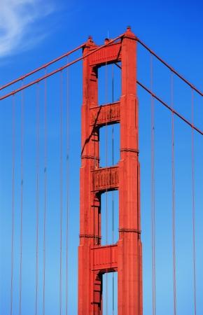 Part of famous Golden Gate Bridge, San Francisco  photo