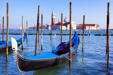 Famous view of San Giorgio maggiore with gondola, Venice Stock Photo - 20245410