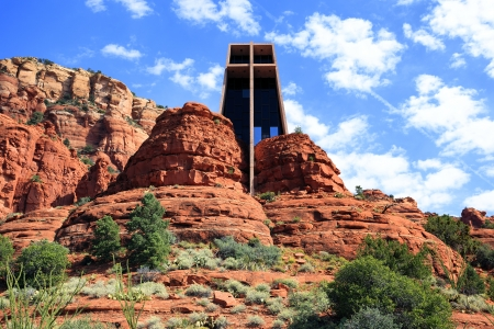 sedona: Famous Chapel of the Holy Cross set among red rocks in Sedona