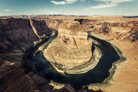 Horizontal view of horseshoe Bend  photo