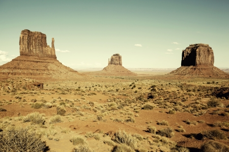 wild wild west: view of famous Monument Valley