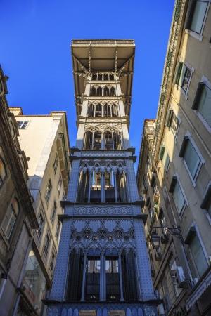 justa: Santa Justa elevator in Lisbon, Portugal