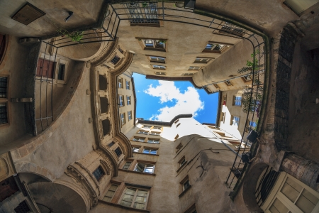 passageways: famous site in Lyon city, France