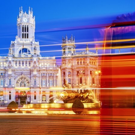 Plaza de la Cibeles, Madrid, España. Editorial