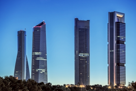 Four Towers Business Area in Madrid photo