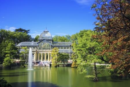 palacio: Crystal Palace (Palacio de cristal) in Retiro Park,Madrid, Spain.  Editorial