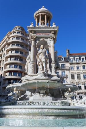 renewed: Renewed fountain in Place des Jacobins, Lyon