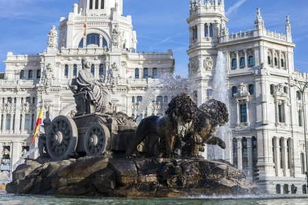 Cibeles Palace and fountain, Madrid, Spain
