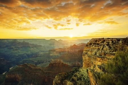 grand canyon national park: Beautiful sunset at Monument Valley, USA Stock Photo