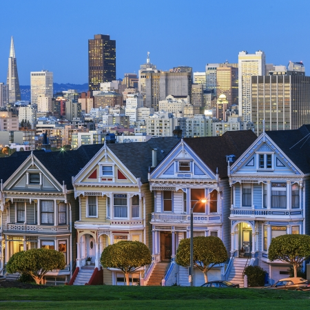 Famous view of San Francisco, USA photo