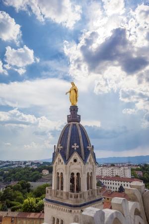 maria: Golden Statue of Virgin Mary, Lyon
