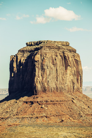 monument valley view: Vertical view of Monument Valley with special photographic processing