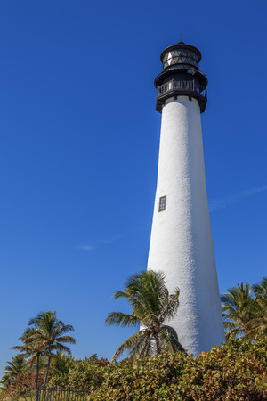 bill baggs: Famous Cape Florida Lighthouse and Lantern in Bill Baggs State Park in Key Biscayne Florida
