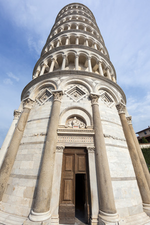 pise: Leaning Tower of Pisa entrance in Tuscany