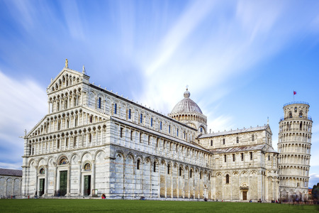 image of the great Piazza Miracoli in Pisa Italy  photo